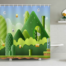 Super Mario Game Background Shower Curtains Beauty Nature Bathroom Curtain Water