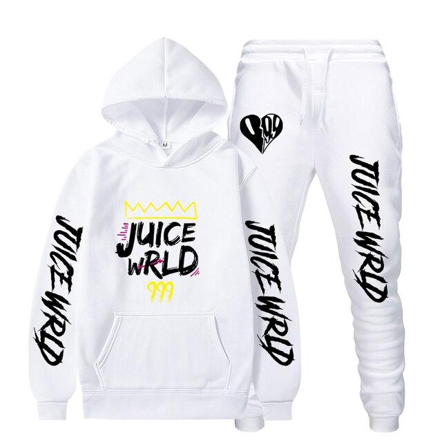 R I P Rapper Juice Wrld Hoodies Suit Sweatshirts Trousers 2PCS Sets Men Women Hoodie Tracksuit Hip Hop Sweatshirt Sets