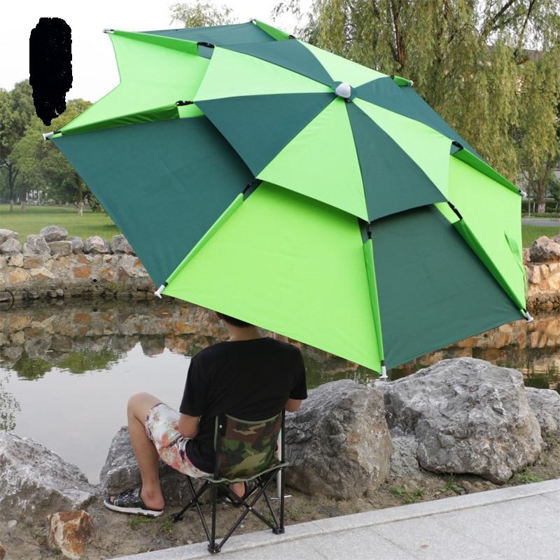 2 M Beach Fishing Folding Umbrella Outdoor Rain-proof Sunscreen Anti-UV Sunshade Camping Awning Portable Waterproof Tarp HW184