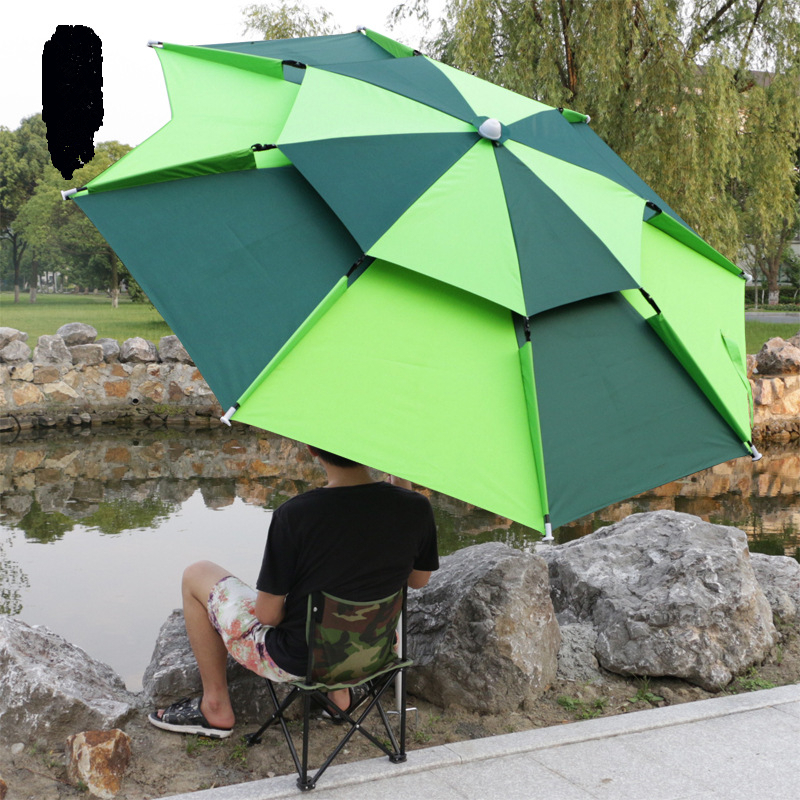 Guarda-chuva ao ar Livre à Prova de Chuva Praia Pesca Dobrável Protetor Solar Anti-uv Toldo Acampamento Portátil Lona Impermeável Hw184 2 m