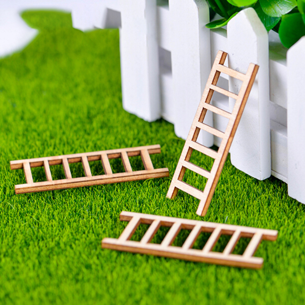 6 Pieces Ladder Stairs Supermarket Stairway Stepladder Staircase Model Small Figurine Crafts Ornament Miniatures Home DIY
