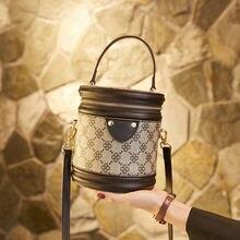 Брендовая дизайнерская маленькая круглая сумка с принтом ins