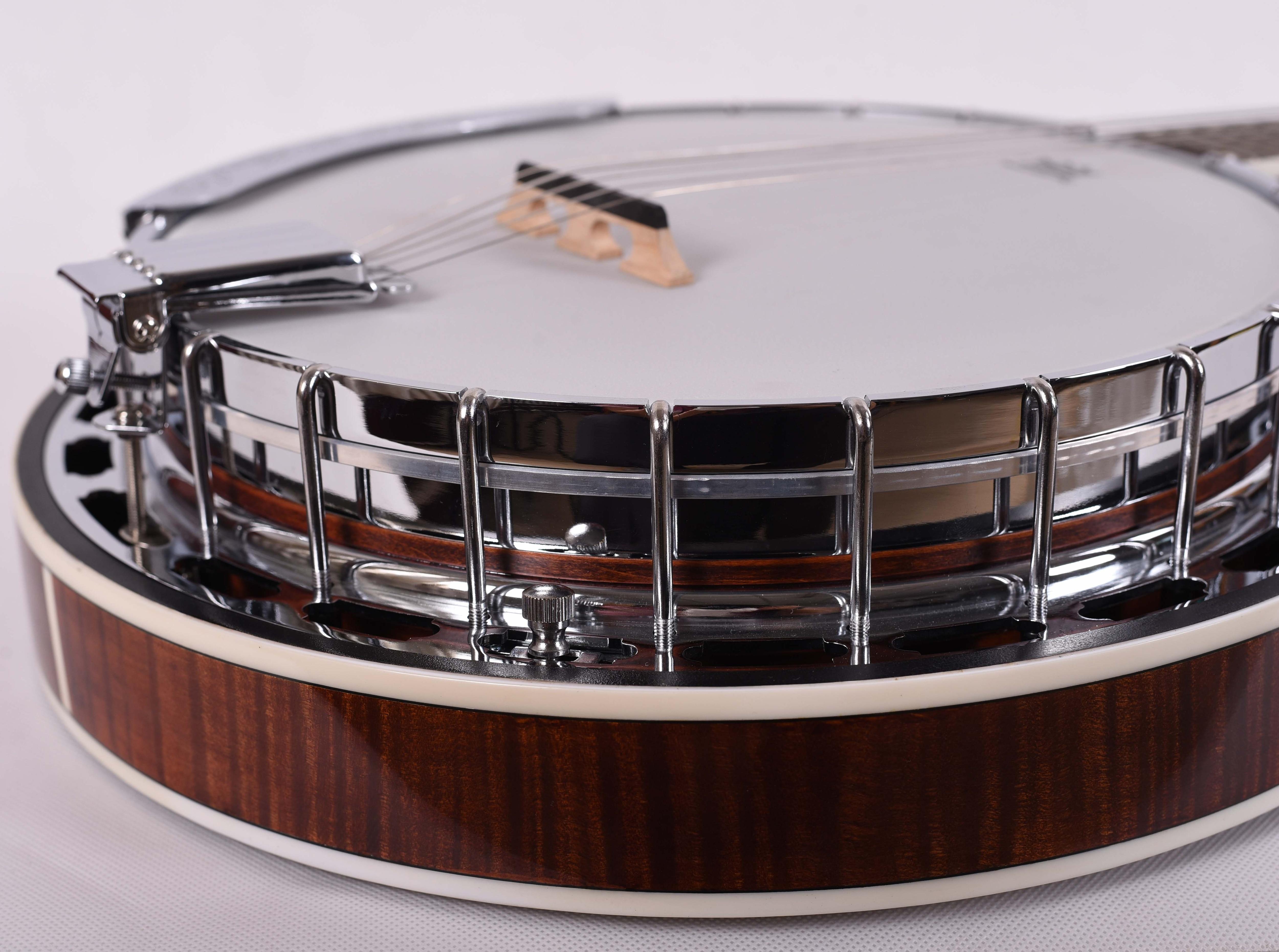 FBJ-26, Feeling 6 strings open white Jade banjo musical instrument