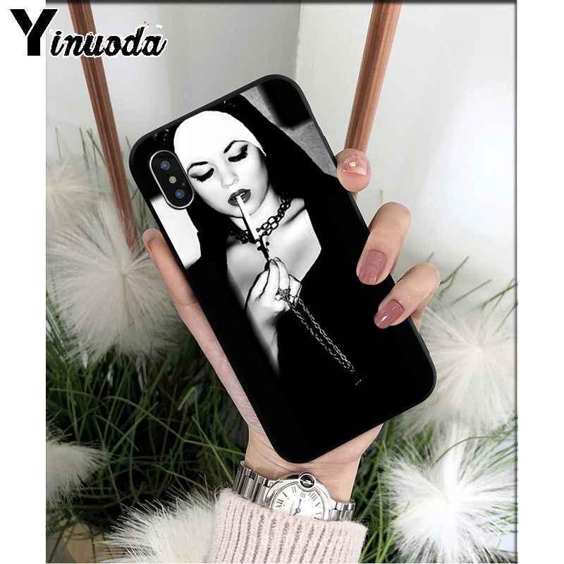 Yinuoda siostra zakonnica seksowna dziewczyna dymu wysokiej jakości etui na telefony dla iPhone 6S 6plus 7 7plus 8 8Plus X Xs MAX 5 5S XR