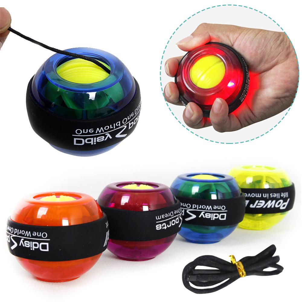 Rainbow LED Muscle Power Ball Wrist Ball Trainer Relax Gyroscope PowerBall  Gyro Arm Exerciser Strengthener Fitness Equipments|Hand Grips| - AliExpress