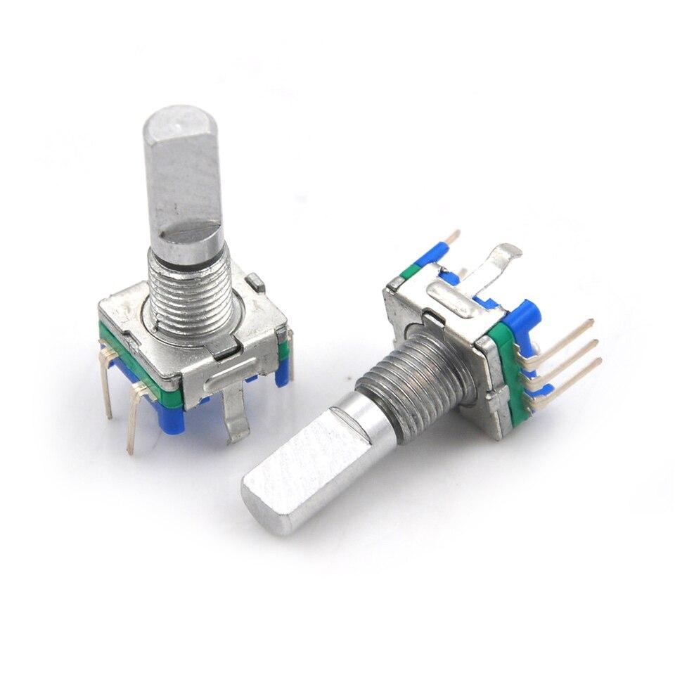 3Stk 6mm D Schaft 20 Detent Punkt 360 Grad Drehen Encoder Drücken Knopf Schalter