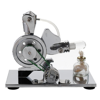 Children's Upgrade DIY Mini Puzzle Air Stirling Engine Generator Motor Model Educational Learning Science Technology Equiment