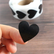 500 Pcs Heart Stickers Black And Pink Seal Labels Christmas Gift Package Decoration Sticker Envelop Seals