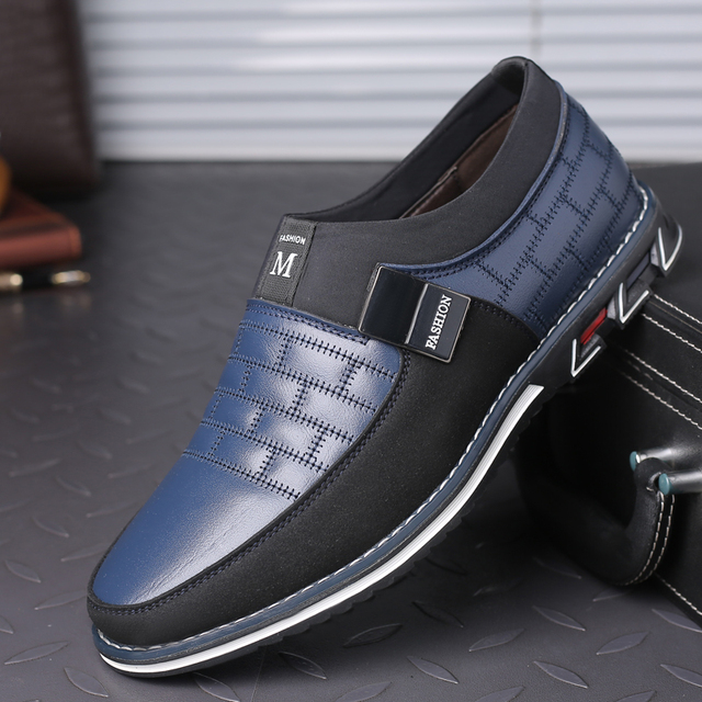 38-46 NEW Genuine Leather Casual Loafers Slip on Driving Shoes 2