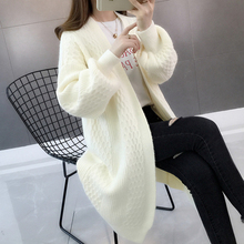 Gkfnmt женские кардиганы Винтаж Осень Зима фонарь рукав длинный кардиган женский модный вязаный свитер верхняя одежда