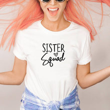 Sister Squad T-Shirt Women Best Friend Matching Shirts Girls Gang College Party Tee Tops Sorority Bff Tshirts