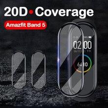 20D湾曲したエッジソフト保護フィルムxiaomi huami amazfitバンド5 miバンド5 6スマート腕時計スクリーンプロテクター