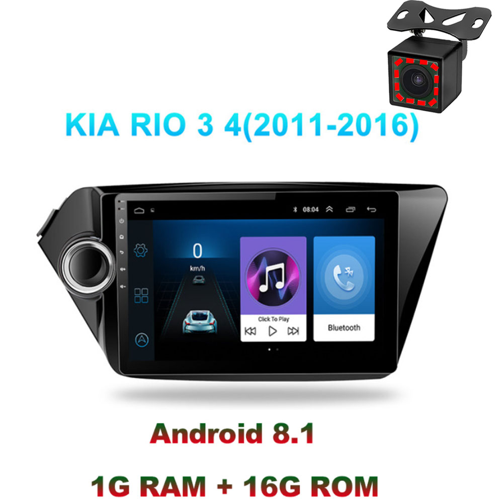 Android 8.1 2din car radio gps navigation multimedia player for <font><b>Kia</b></font> <font><b>RIO</b></font> 3 4 <font><b>Rio</b></font> 2010 <font><b>2011</b></font> 2012 2013 2014 2015 2016 2017 2018 GPS image