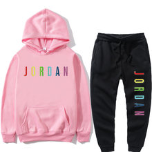 2021 New Hoodie Basketball Shirt Sweatshirt Polar Fleece Hooded Suit + Sweatpants Jogging Jumper S-3xl