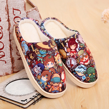 Unisex Anime Game LOL Cosplay Plush Shoes Cartoon Lovely Home Indoor Slippers Men Women Warm Shoes Winter Soft Non-slip Gift