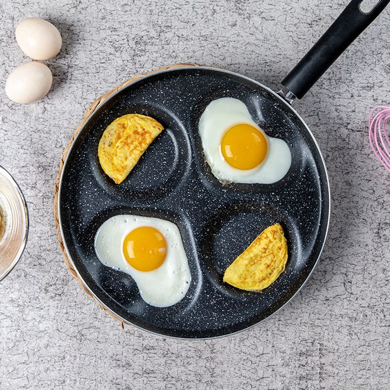 Four-hole Omelet Pan For Eggs Ham Pan Frying Pans Cooking Pot Creative Non-stick No Oil-smoke Breakfast Grill Pan