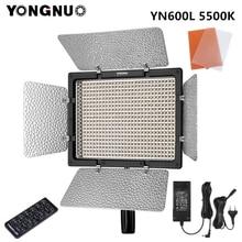 永諾 YN600L YN600 l led ビデオライトの写真撮影ライト 5500 18k 色温度 2.4 グラムワイヤレスリモコン + アダプタ電源