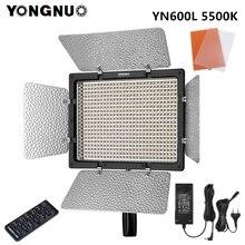 YONGNUO YN600L YN600 L LED Video işığı fotoğraf ışıkları 5500k renk sıcaklığı 2.4G kablosuz uzaktan kumanda + adaptörü güç