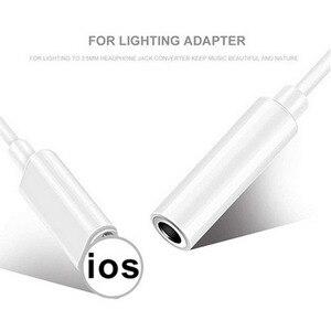 Image 2 - Adaptador de auriculares Lightning para iPhone 7 de alta calidad, Cable de Audio 2 en 1 de 3,5mm, adaptador de auriculares