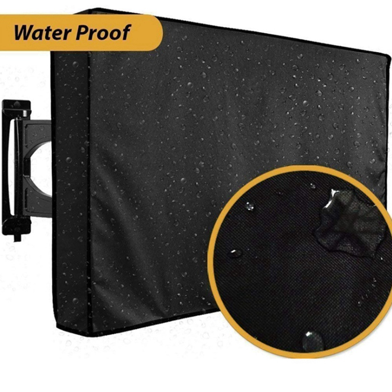 Outdoor TV Screen Dustproof Waterproof Cover Set Cover High Quality Oxford Black Television Case TV 22'' To 70'' Inch TV Covers     - title=