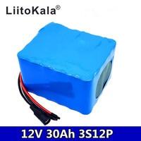 LiitoKala 12V 30Ah 3S12P 11.1V 12.6V High power Lithium Battery Pack for Inverter Xenon Lamp Solar Street Light Sightseeing Car