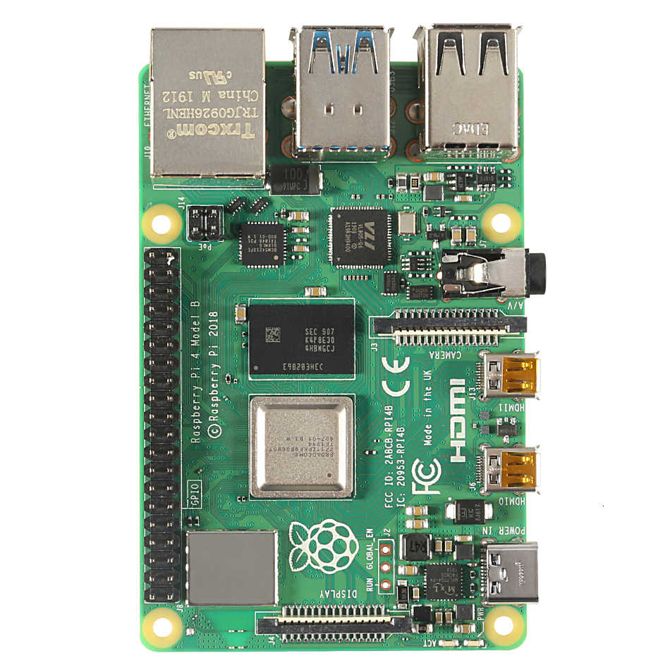 ล่าสุด Raspberry Pi 4 รุ่น B 1/2/4 GB RAM Bcm2711 Quad Core Cortex-a72 แขน V8 1.5 GHz รองรับ 2.4/5.0 GHz WIFI Bluetooth 5.0