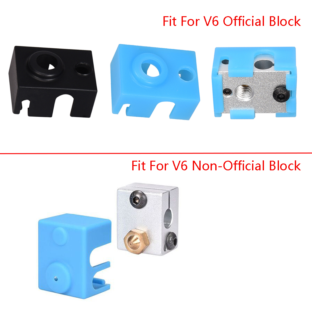 3D Printer Parts V6 Silicone Sock Fit to V6 Heated Block J-head Hotend 1.75-3.0mm Bowden-Direct Extr