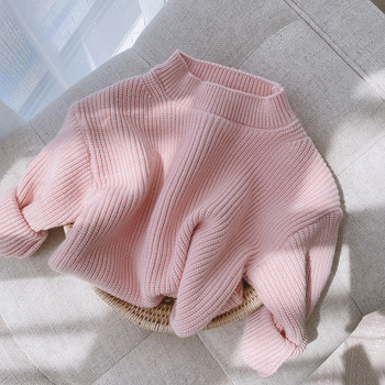 lioraitiin 0-6Years Toddler Baby Girl Autumn Winter Sweaters Long Sleeve Solid Fashion Knitting Coat 5Styles 1