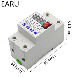 Image 3 - 63A Automatic Reconnect Circuit Breaker Over And Under Voltage Over Current Leakage Protection Surge Protect Protector Relay