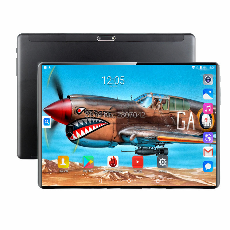 10.1 Inch Tablet PC Android 9.0 2.5D Steel Screen 3G 4G Phone Call 6GB/64GB Octa Core 2.0GHz Dual SIM Support GPS OTG WiFi PC