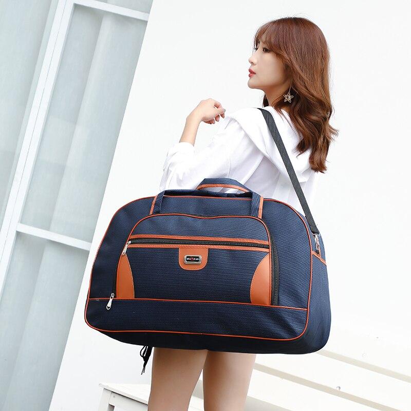 Super Large Capacity Women's Travel Bag Waterproof Men Duffel Bags Trip Weekender Overnight Hand Luggage Big Shoulder Bag