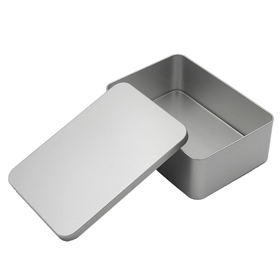 Star Packaging Square Shape Small Metal Tin Boxes Custom Embossed Tin Box