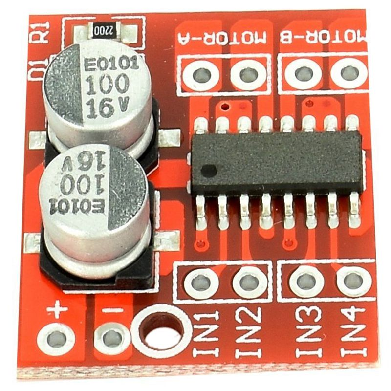 10pcs Mini Dual DC Motor H-Bridge Driver Module Speed Controller 2V-10V With OverTemperature Protection For Smart Toy Cars And