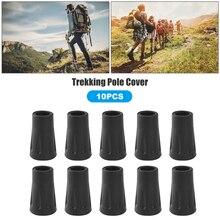 Antiskid Walking Stick Crutch Cane 10x Portable Anti-slip Round Trekking Pole Tip Protector Walking Stick Cover Pad