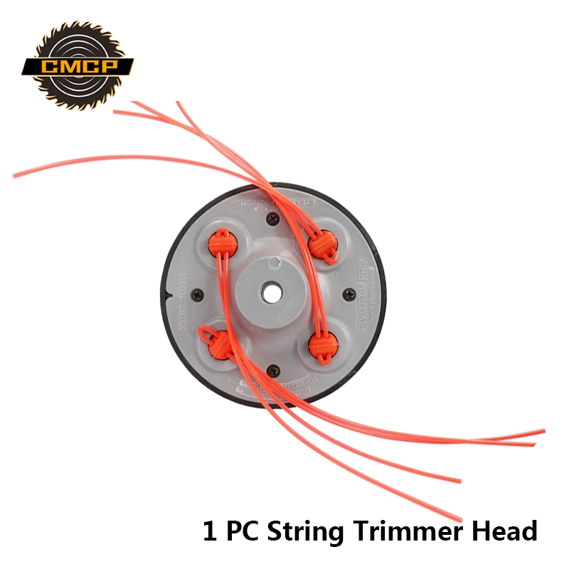 1pc Universal 4 Lines Bump Speed Feed String Trimmer Head Grass Trimmer Head For Gasoline Lawn Mower Brush Cutter Head