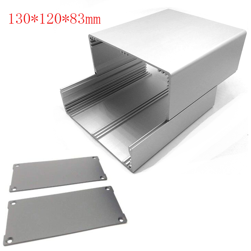 130*120*83mm Split Body Extruded Aluminum Enclosure PCB Instrument Electronic Project Box Case Metal Shell DIY