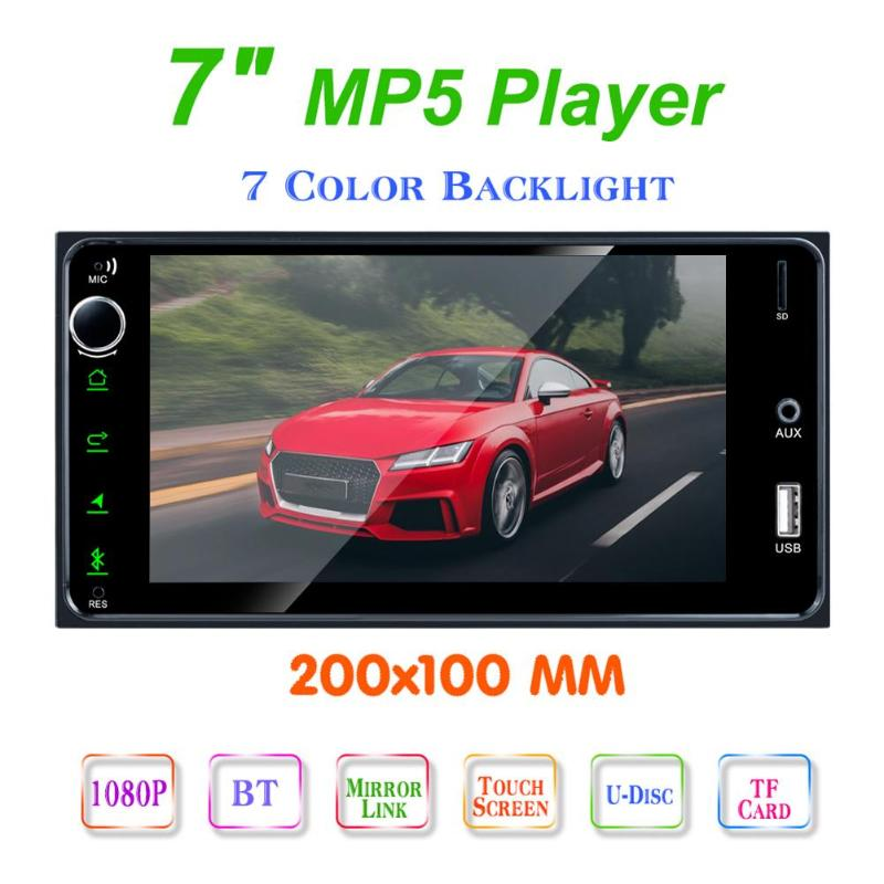 RK-7180 7 inch USB MP5 Player <font><b>2</b></font> <font><b>DIN</b></font> Touch Screen All Infrared Remote Control Free Call Clock Car Stereo Audio FM Bluetooth image