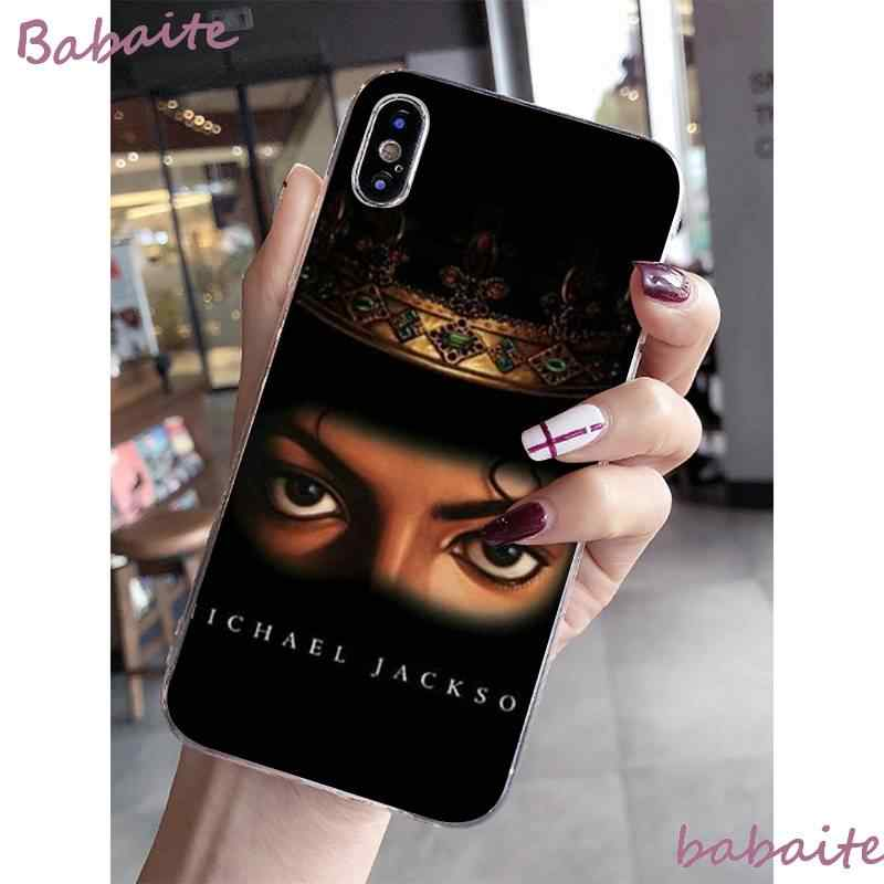 Babaite מייקל ג 'קסון ריקוד מוסיקלי רך סיליקון TPU טלפון כיסוי עבור iPhone 8 7 6 6S בתוספת X XS מקסימום 5 5S SE XR Coque פגז