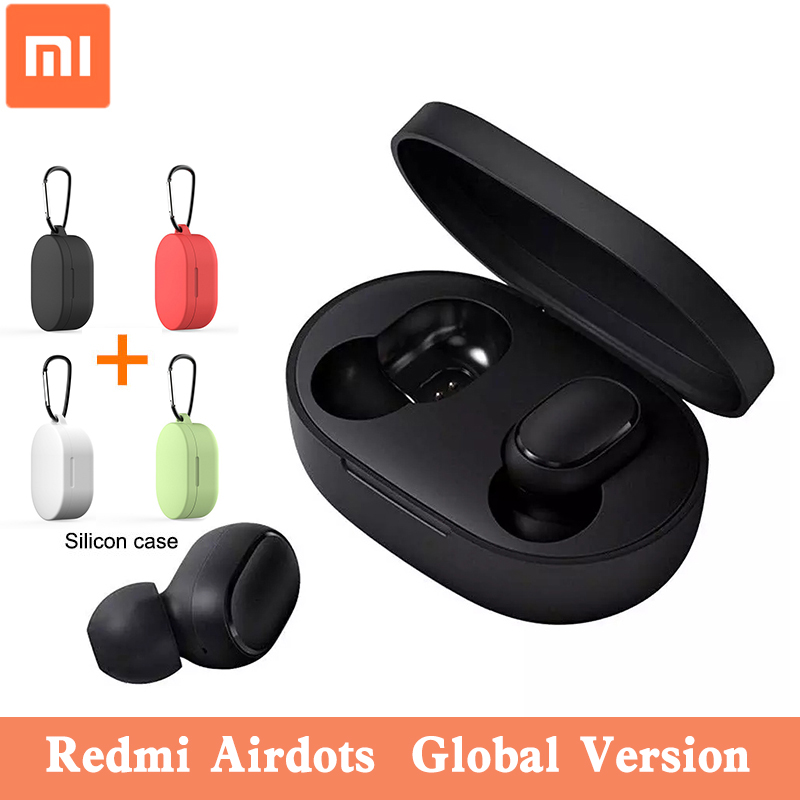 Xiaomi Redmi Airdots Wireless Earphone Tws 5.0 Stereo Bass Bluetooth Xiaomi Headphones Voice Control With Mic Earbuds Headset