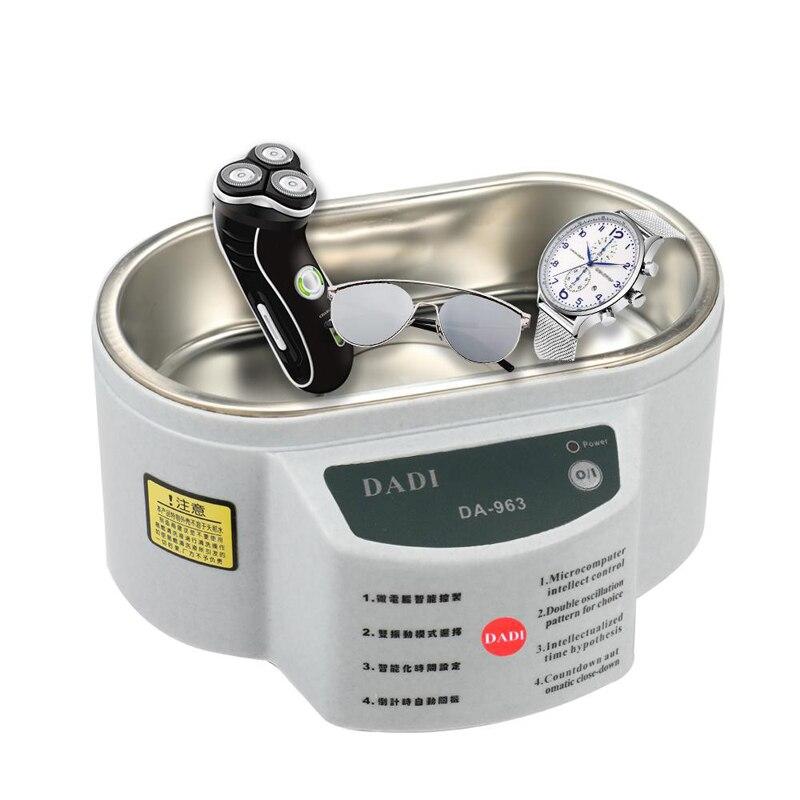 600ml digital ultra-sônico líquido de limpeza banho jóias óculos placa circuito máquina de limpeza ultra-som esterilização