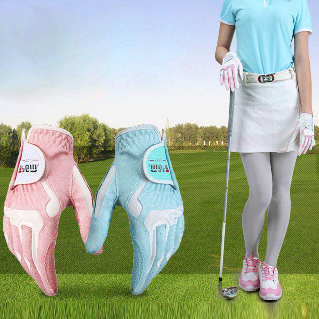Women's Anti-slip Design Golf Gloves Left and Right Hand Breathable Sports Gloves title=