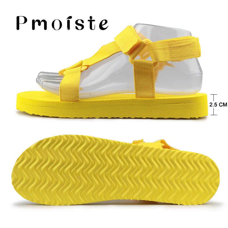 Büyük boy 42-43 düz sandalet kadın yaz kanca döngü tıknaz sandalet açık plaj ayakkabısı kadın yumuşak köpük taban olmayan kaymaz damla nakliye