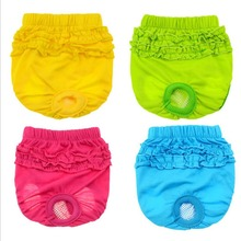 Подгузники для собак, гигиенические физиологические штаны, моющиеся женские шорты для собак, трусики для менструации, нижнее белье, трусы для домашних животных