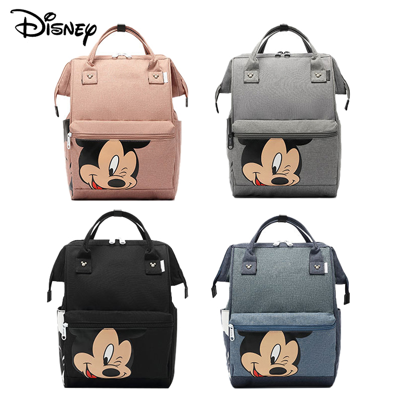 Disney Diaper Backpack Baby Bag For Mom Wet Bag Fashion Mummy Maternity Diaper Organizer Mickey Carriage Travel Cart Cartoon