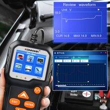 KONNWEI KW650 автомобильный мотоцикл батарея тест er 12V 6V система батареи анализатор 2000CCA зарядка тест на проворот коленвала инструменты для тести...
