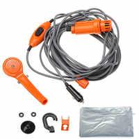 Pistola de agua portátil de alta presión para Ducha de Camping al aire libre de 12V, bomba eléctrica para Camping, viaje, juego de ducha para mascotas