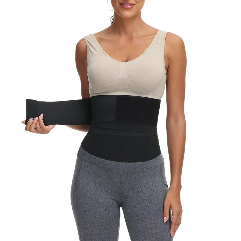 Waist Trainer for Women Tummy Wrap Waist Trimmer Belt Slimming Body Shaper Plus Size Invisible Wrap Waist Trainer Waist Support