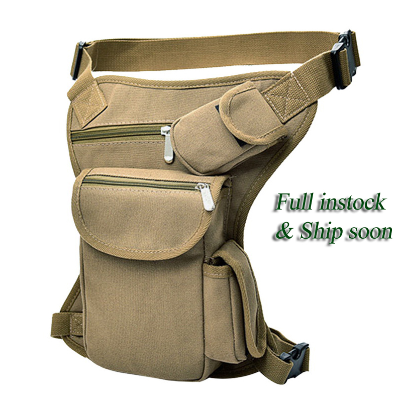 Canvas Waist Pack Belt Bag Fanny Men Military Tactical Hip Leg Drop Pouch Travel