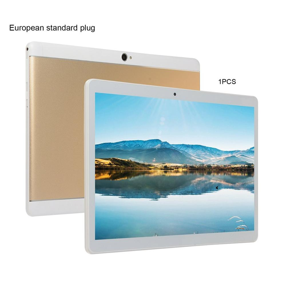 KT107 Round Hole Tablet 10.1 Inch HD Large Screen Android 8.10 Version Fashion Portable Tablet 8G+64G Gold Tablet