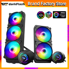 Darkflash DX Water Cooling CPU Cooler ARGB computer case fan aura sync liquid Heatsink Radiator LGA 2066/1155/2011/AM3+/AM4 AMD